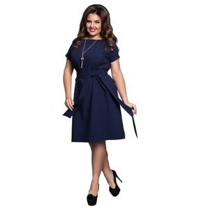 Office Dress Green Blue Red Dresses Plus Size Wome